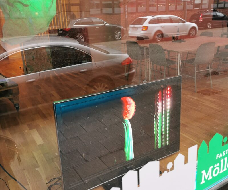 TV-skärm i skyltfönster