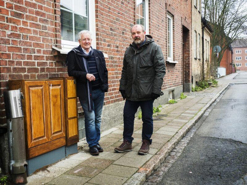 Jan Svärd och Hjalmar Falck i utomhusmiljö