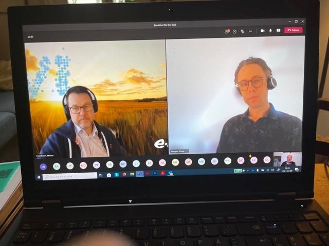 Skärmdump från det digitala mötet