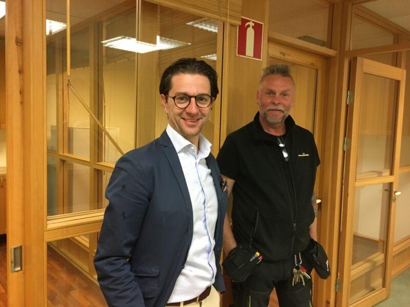Bild från det nya kontoret
